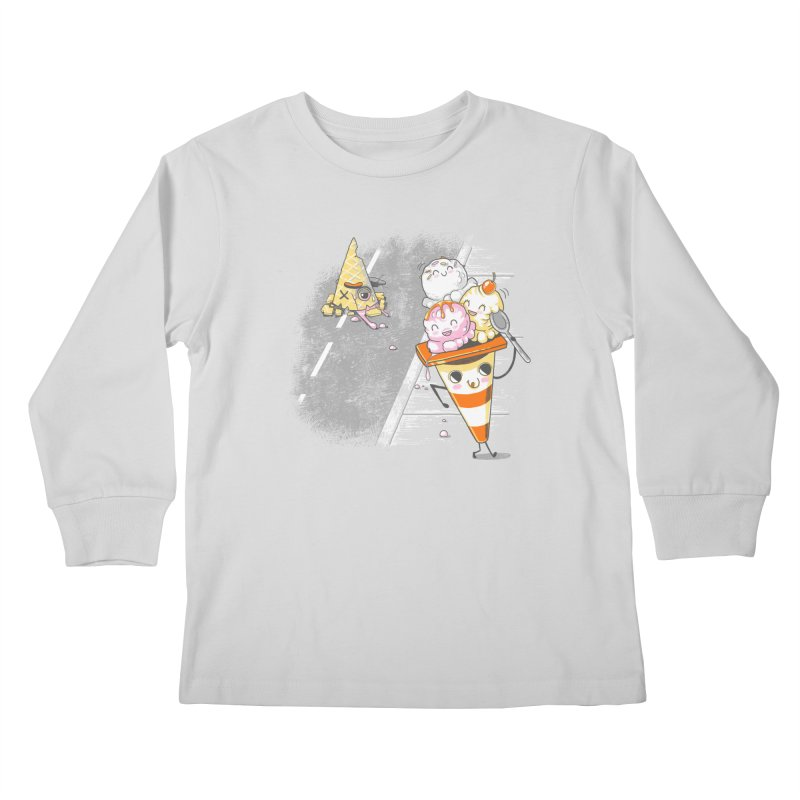 Traffic Cone's Sweet Revenge Kids Longsleeve T-Shirt by Made With Awesome