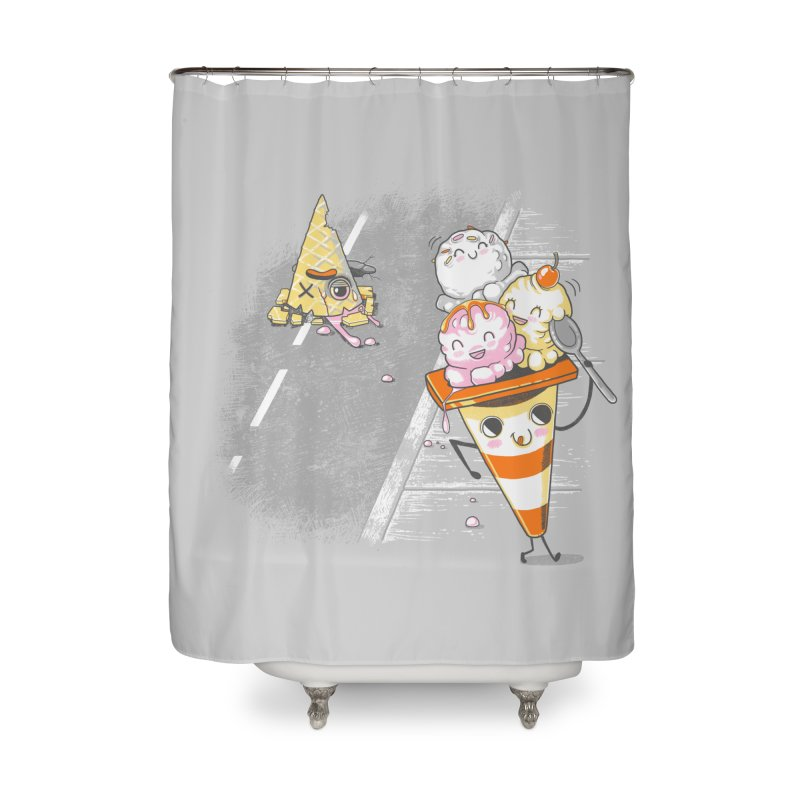 Traffic Cone's Sweet Revenge Home Shower Curtain by Made With Awesome
