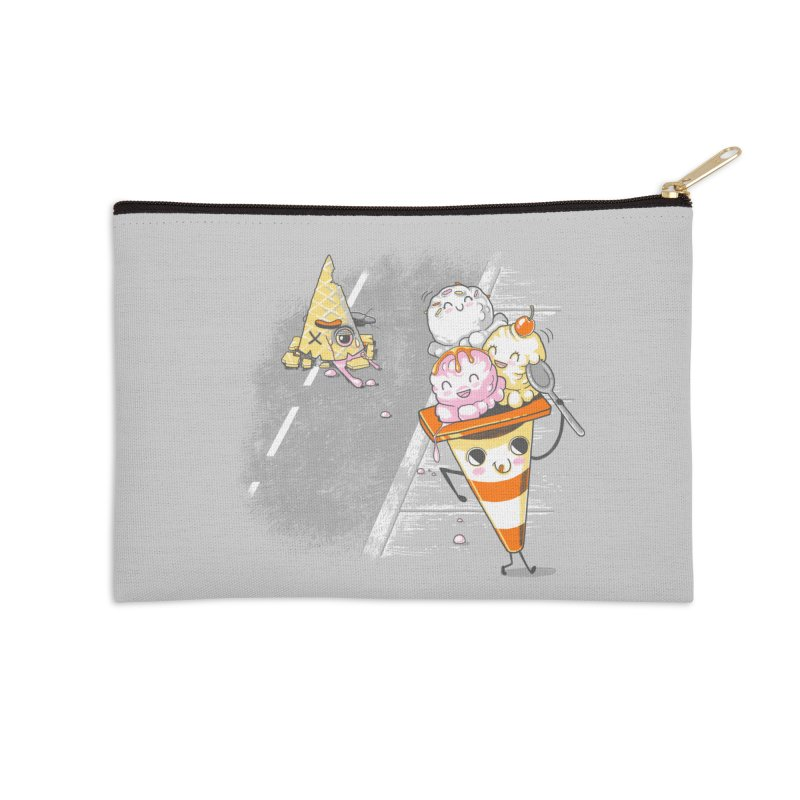 Traffic Cone's Sweet Revenge Accessories Zip Pouch by Made With Awesome