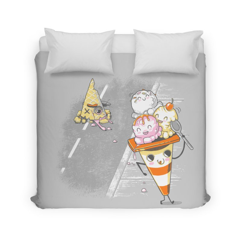 Traffic Cone's Sweet Revenge Home Duvet by Made With Awesome