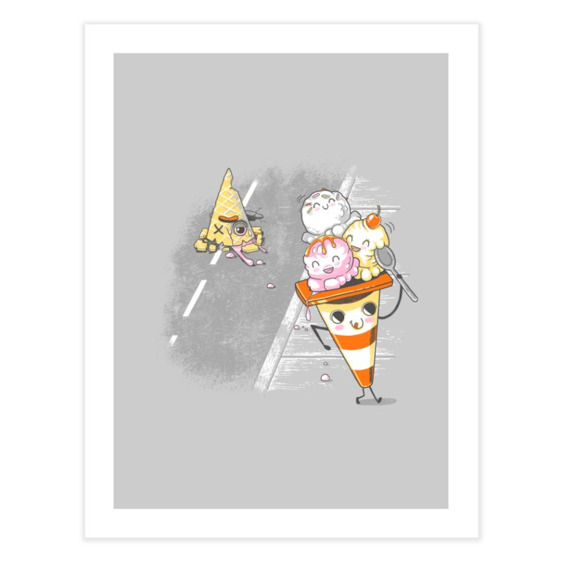 Traffic Cone's Sweet Revenge Home Fine Art Print by Made With Awesome