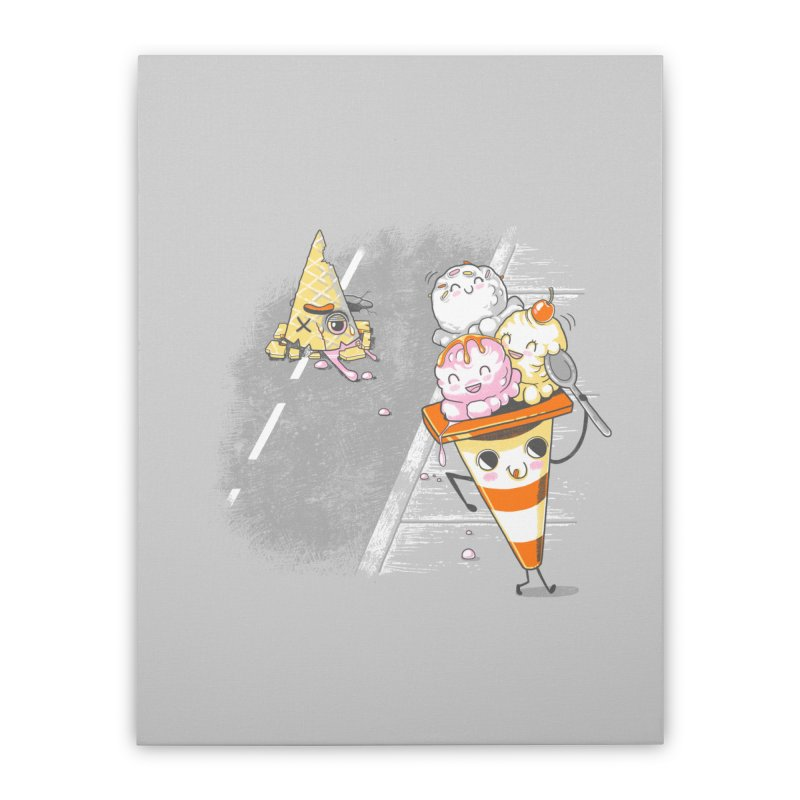 Traffic Cone's Sweet Revenge Home Stretched Canvas by Made With Awesome