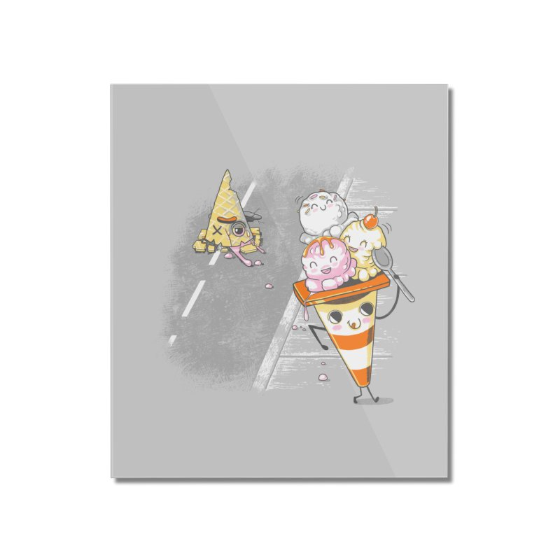 Traffic Cone's Sweet Revenge Home Mounted Acrylic Print by Made With Awesome