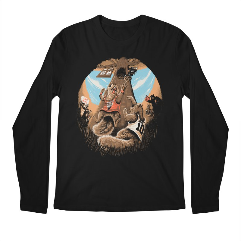 He Shoots He Stores Men's Regular Longsleeve T-Shirt by Made With Awesome