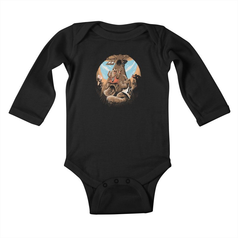 He Shoots He Stores Kids Baby Longsleeve Bodysuit by Made With Awesome
