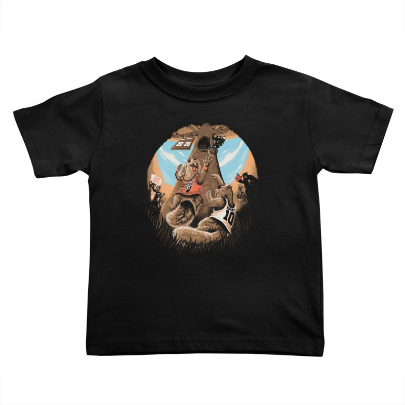 He Shoots He Stores Kids Toddler T-Shirt by Made With Awesome