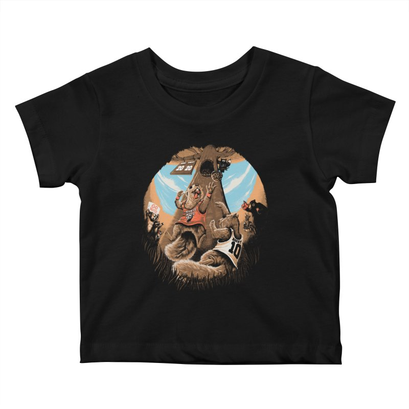 He Shoots He Stores Kids Baby T-Shirt by Made With Awesome