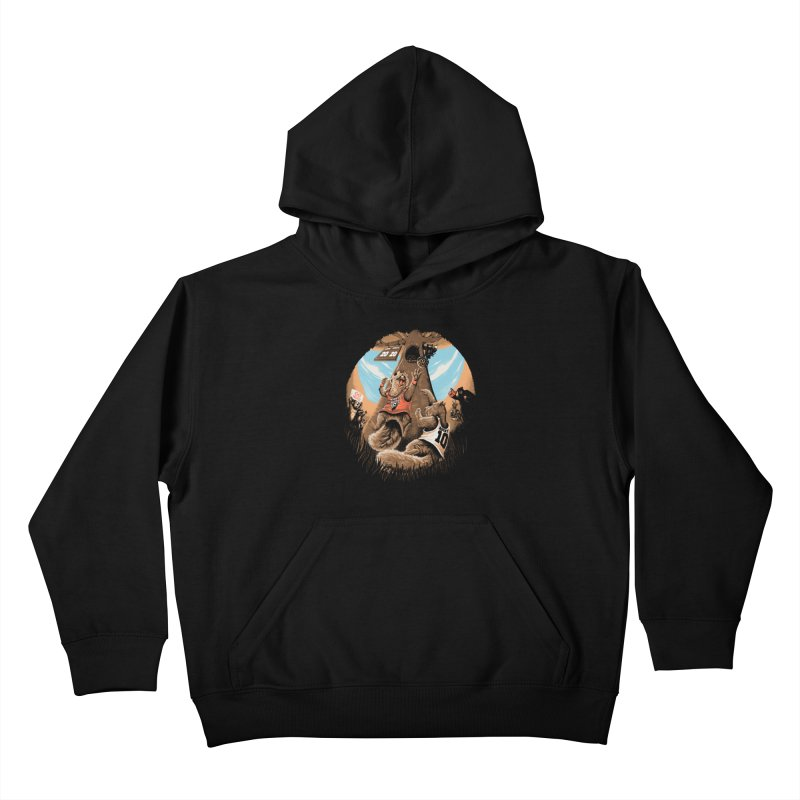 He Shoots He Stores Kids Pullover Hoody by Made With Awesome
