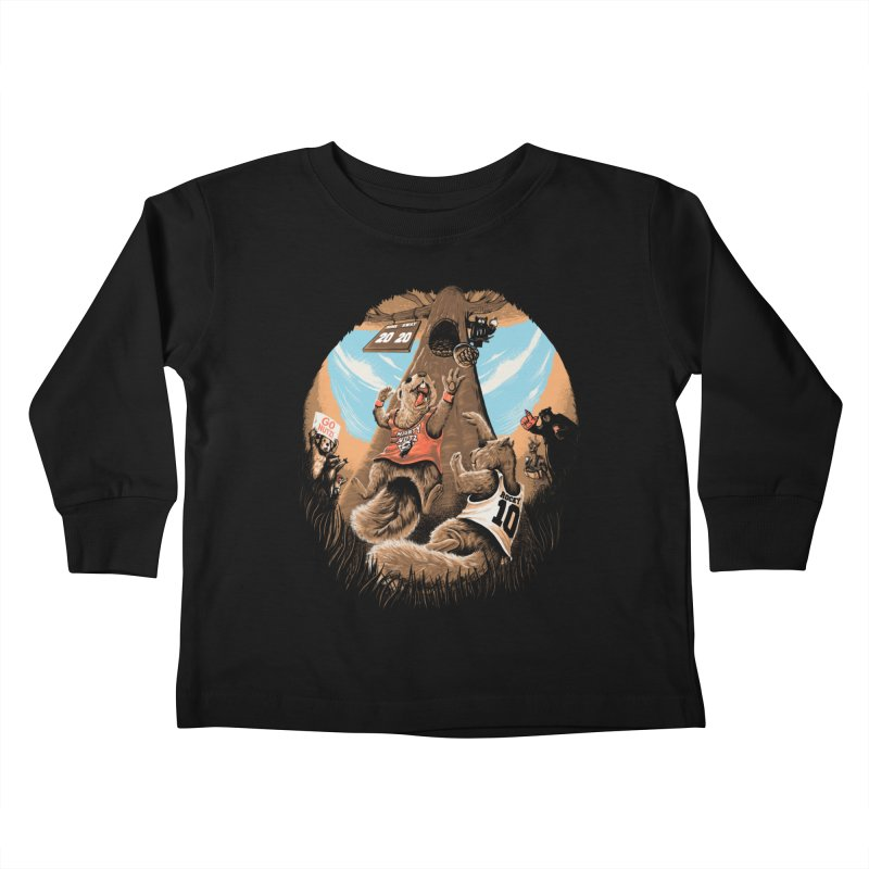 He Shoots He Stores Kids Toddler Longsleeve T-Shirt by Made With Awesome