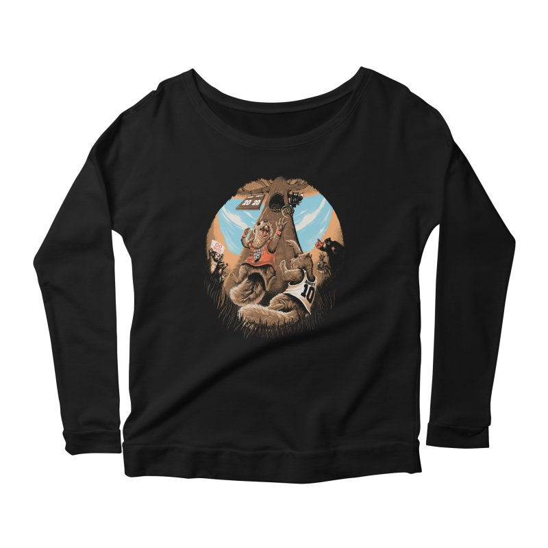 He Shoots He Stores Women's Scoop Neck Longsleeve T-Shirt by Made With Awesome