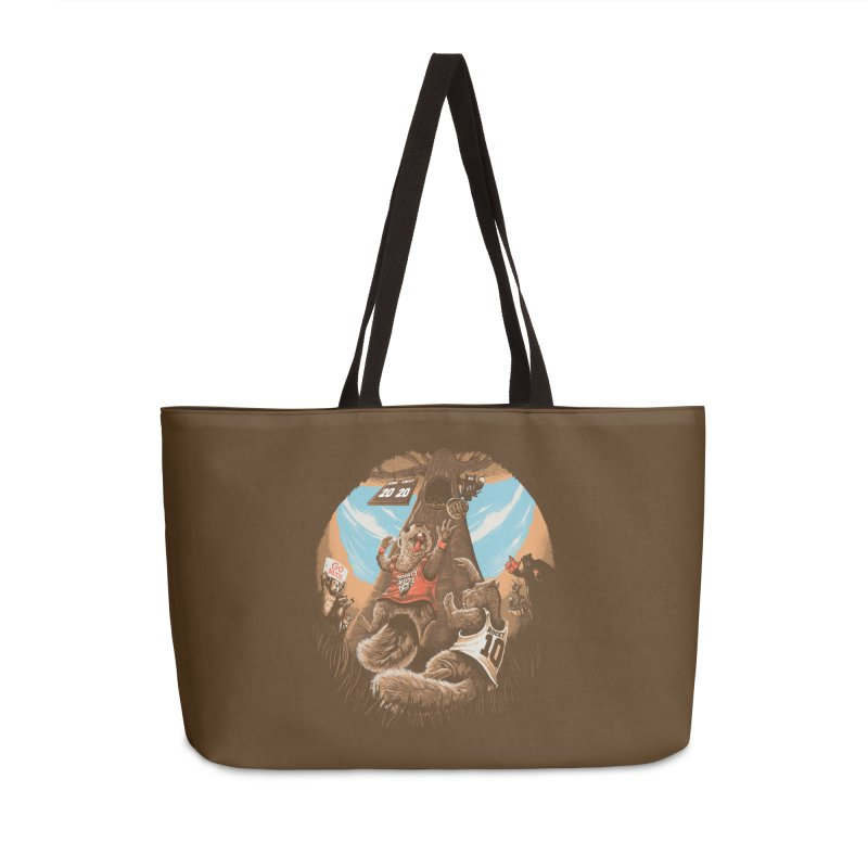 He Shoots He Stores Accessories Weekender Bag Bag by Made With Awesome