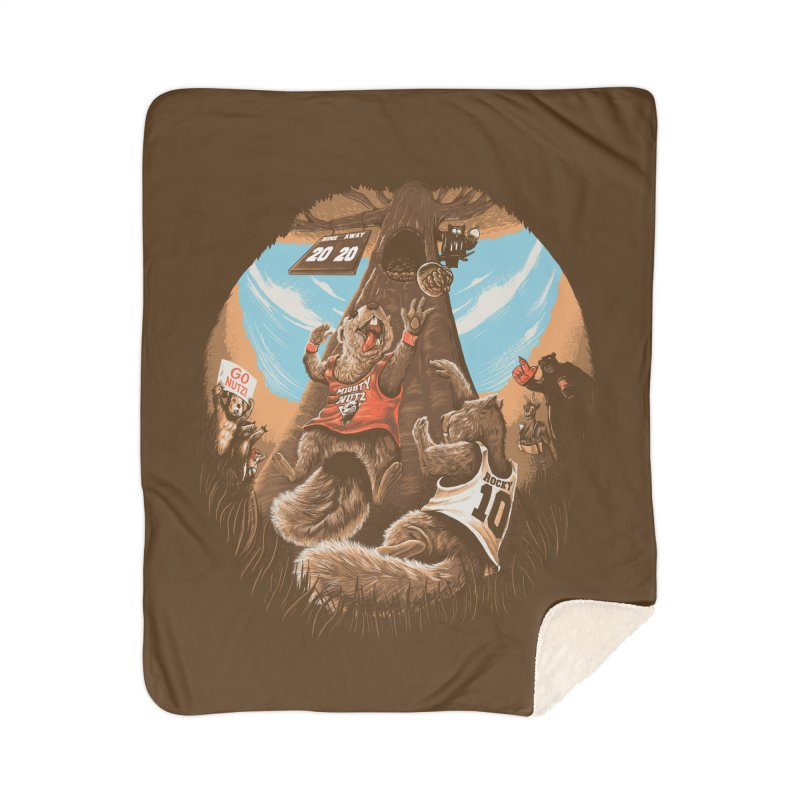 He Shoots He Stores Home Sherpa Blanket Blanket by Made With Awesome
