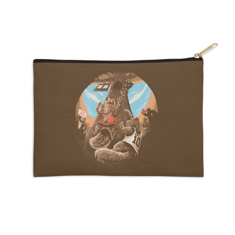 He Shoots He Stores Accessories Zip Pouch by Made With Awesome