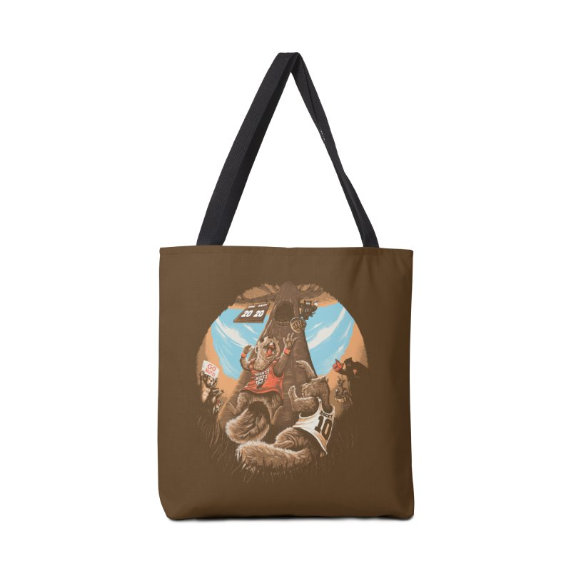 He Shoots He Stores Accessories Tote Bag Bag by Made With Awesome
