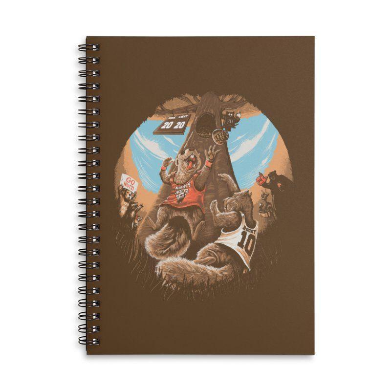 He Shoots He Stores Accessories Lined Spiral Notebook by Made With Awesome