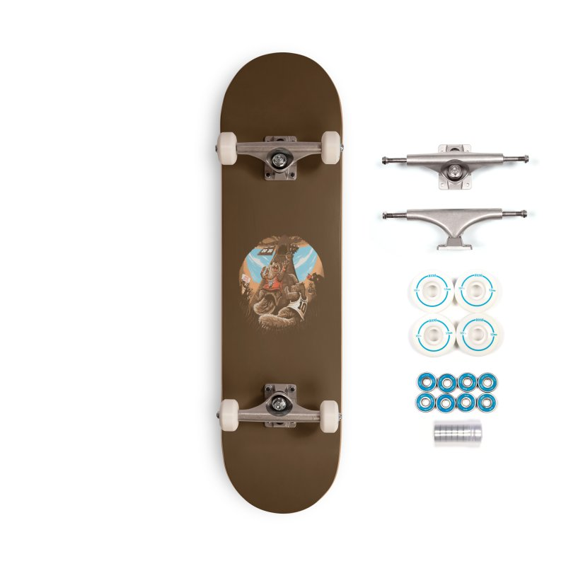He Shoots He Stores Accessories Complete - Basic Skateboard by Made With Awesome
