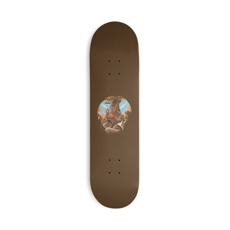 He Shoots He Stores Accessories Deck Only Skateboard by Made With Awesome