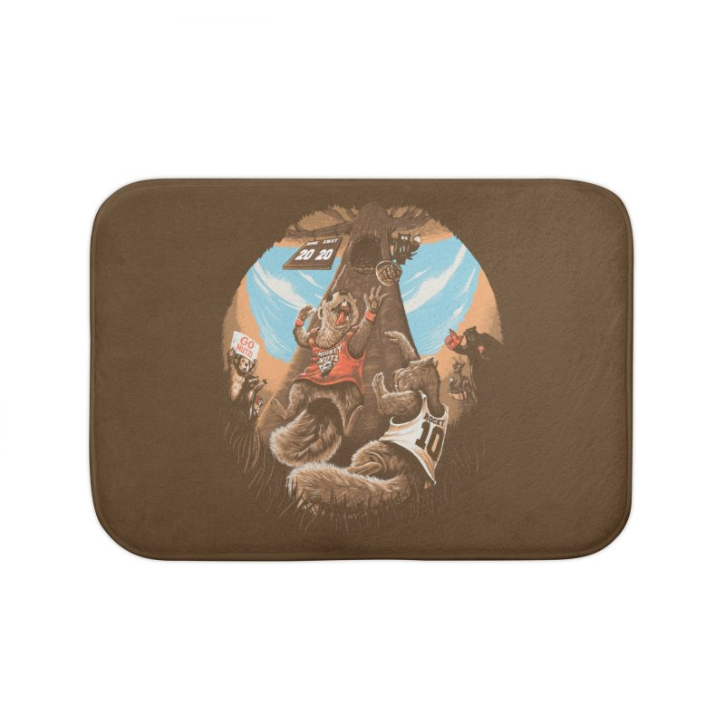 He Shoots He Stores Home Bath Mat by Made With Awesome