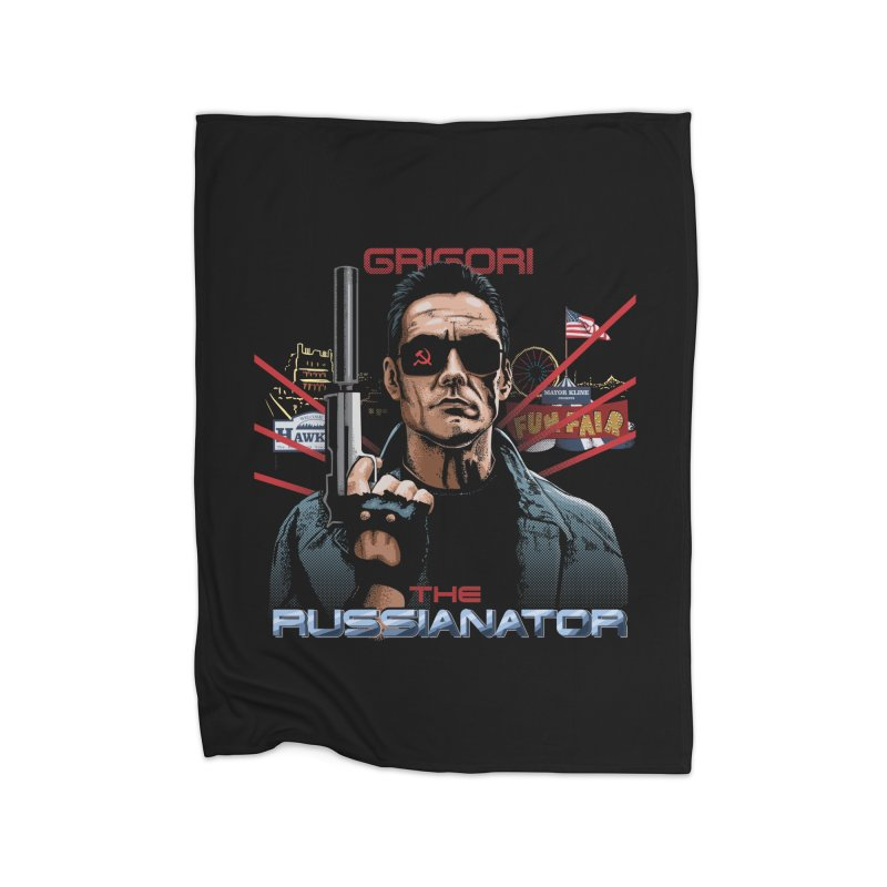 THE RUSSIANATOR Home Fleece Blanket Blanket by Made With Awesome