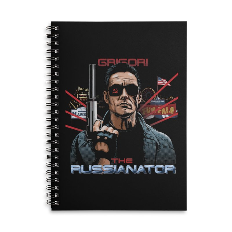 THE RUSSIANATOR Accessories Lined Spiral Notebook by Made With Awesome