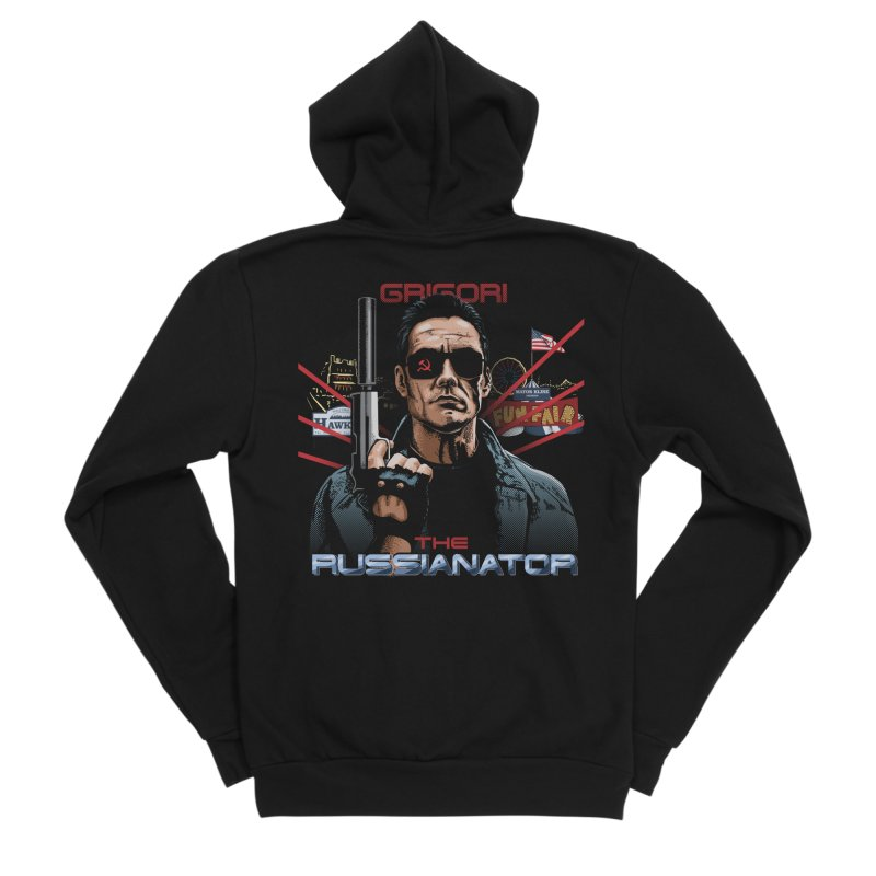 THE RUSSIANATOR Men's Sponge Fleece Zip-Up Hoody by Made With Awesome