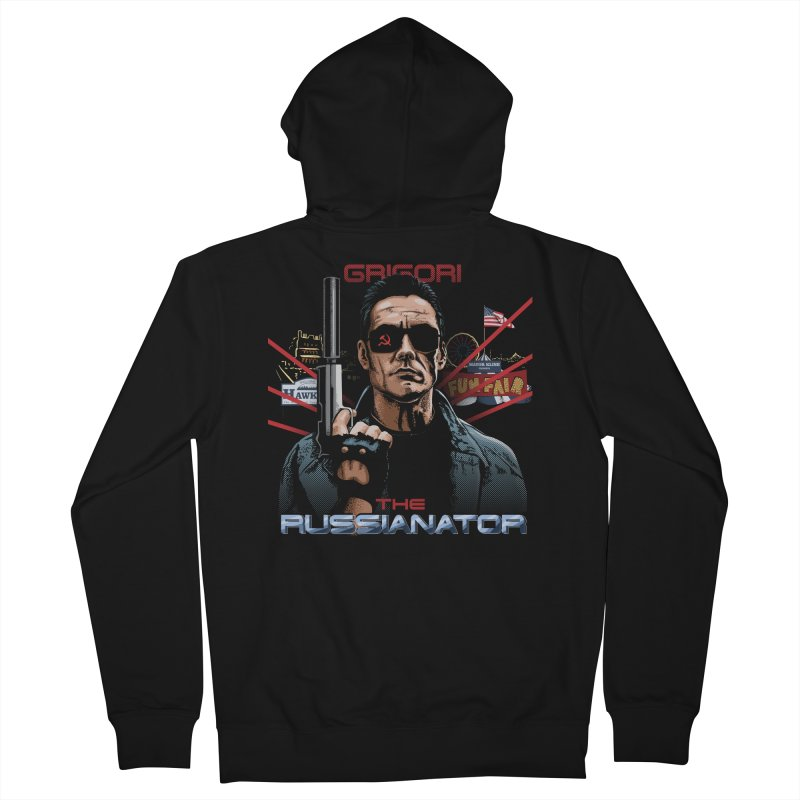 THE RUSSIANATOR Men's French Terry Zip-Up Hoody by Made With Awesome