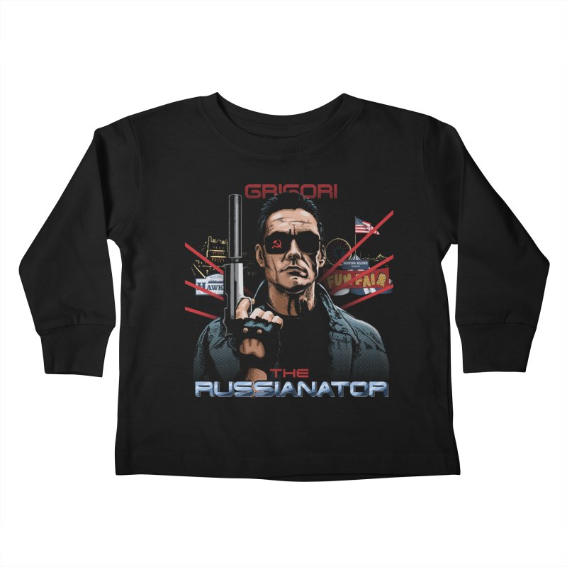 THE RUSSIANATOR Kids Toddler Longsleeve T-Shirt by Made With Awesome