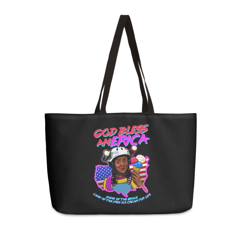 God Bless amERICA! Accessories Weekender Bag Bag by Made With Awesome