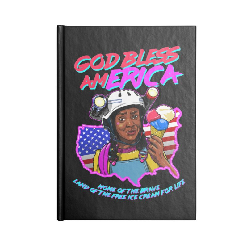 God Bless amERICA! Accessories Lined Journal Notebook by Made With Awesome