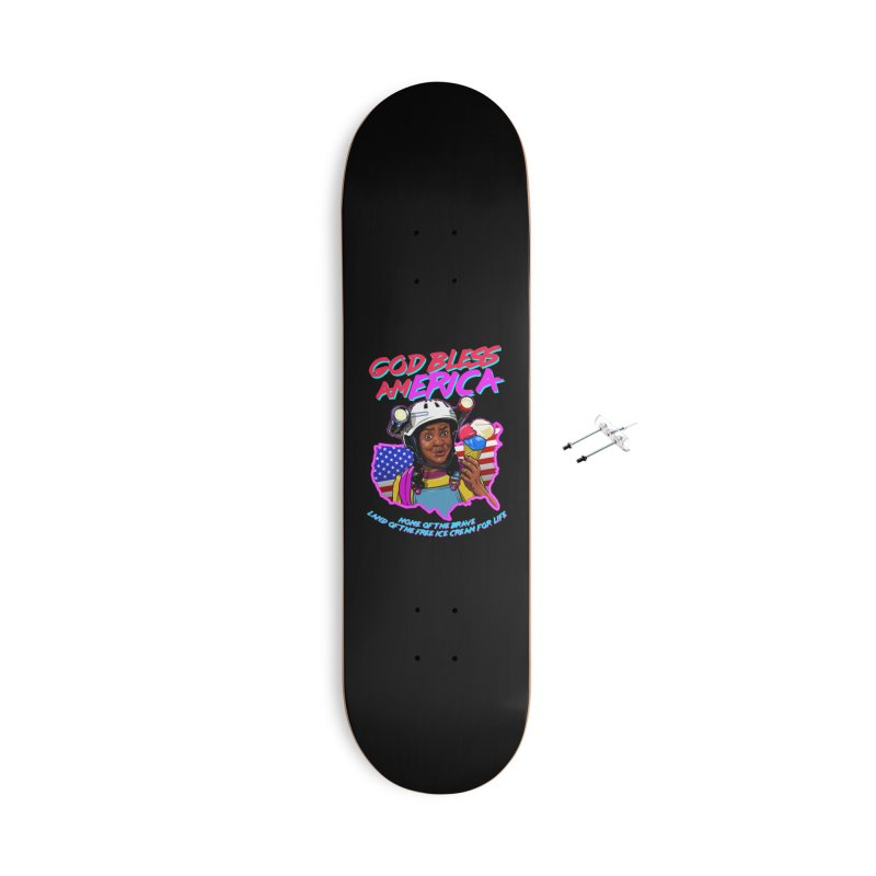 God Bless amERICA! Accessories With Hanging Hardware Skateboard by Made With Awesome