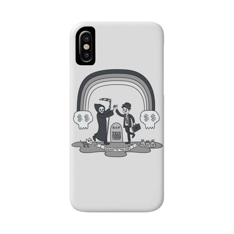 Death and Taxes Accessories Phone Case by Made With Awesome