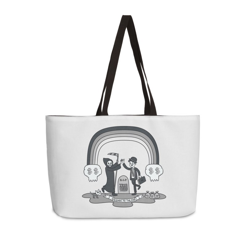 Death and Taxes Accessories Weekender Bag Bag by Made With Awesome