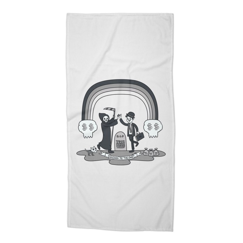 Death and Taxes Accessories Beach Towel by Made With Awesome