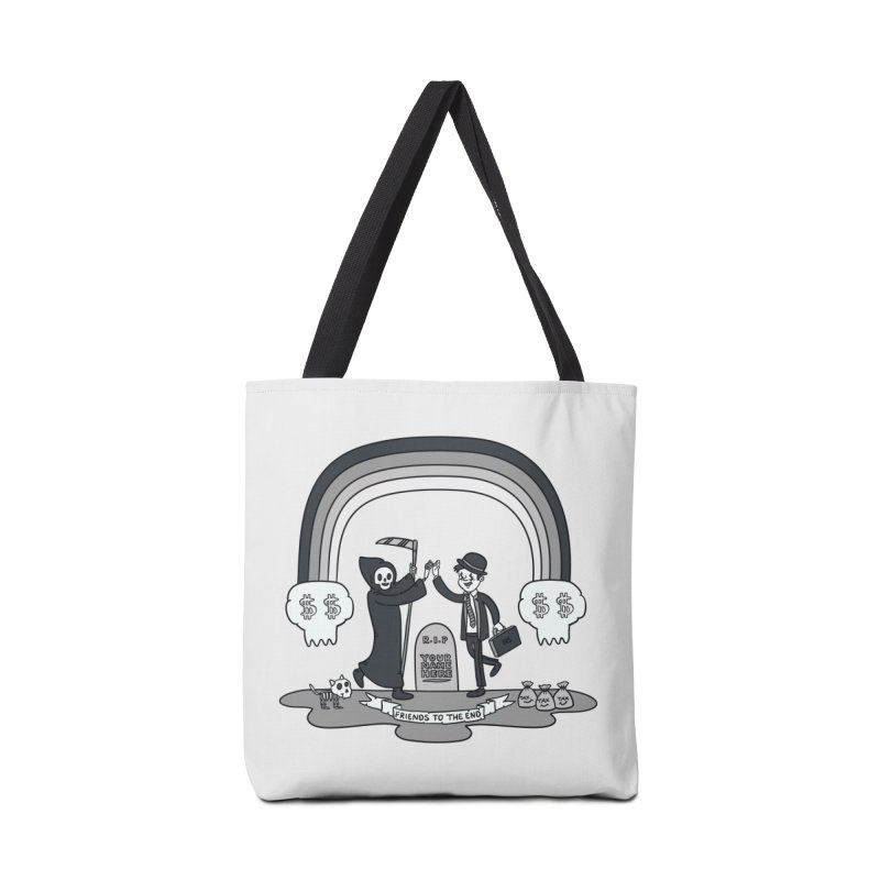 Death and Taxes Accessories Tote Bag Bag by Made With Awesome