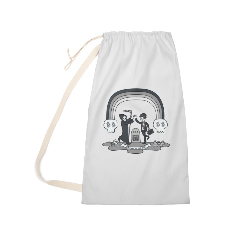 Death and Taxes Accessories Laundry Bag Bag by Made With Awesome