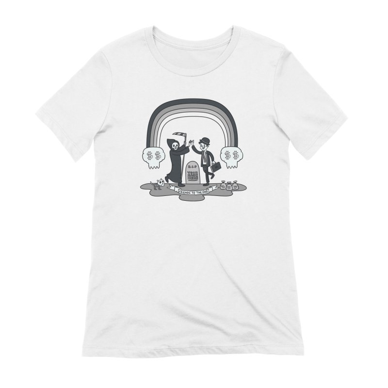 Death and Taxes Women's Extra Soft T-Shirt by Made With Awesome
