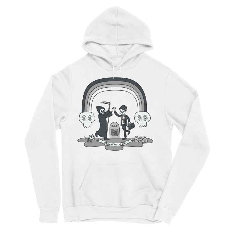 Death and Taxes Men's Sponge Fleece Pullover Hoody by Made With Awesome