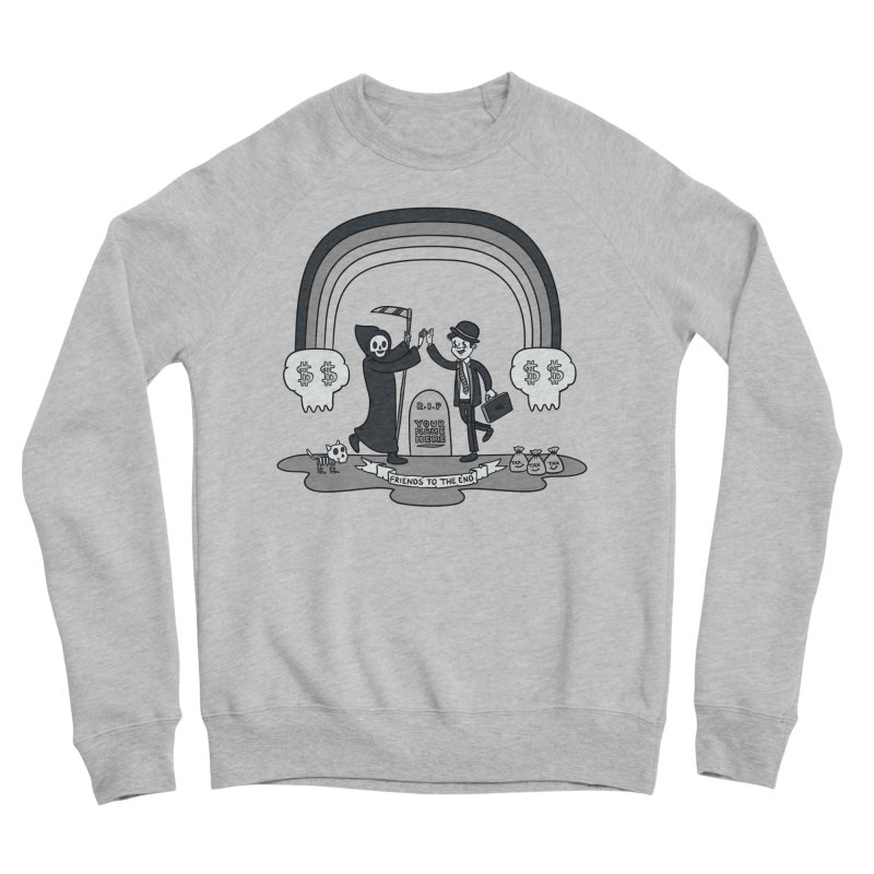 Death and Taxes Men's Sponge Fleece Sweatshirt by Made With Awesome