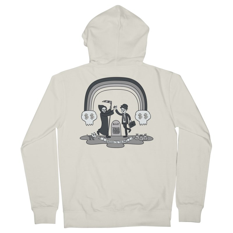 Death and Taxes Women's French Terry Zip-Up Hoody by Made With Awesome