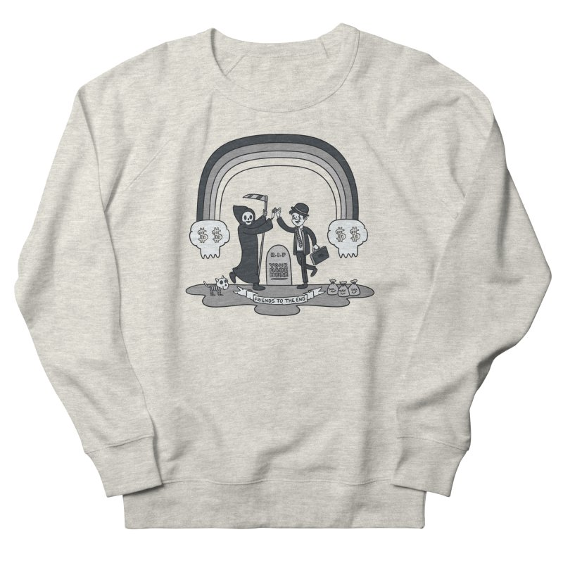 Death and Taxes Men's French Terry Sweatshirt by Made With Awesome