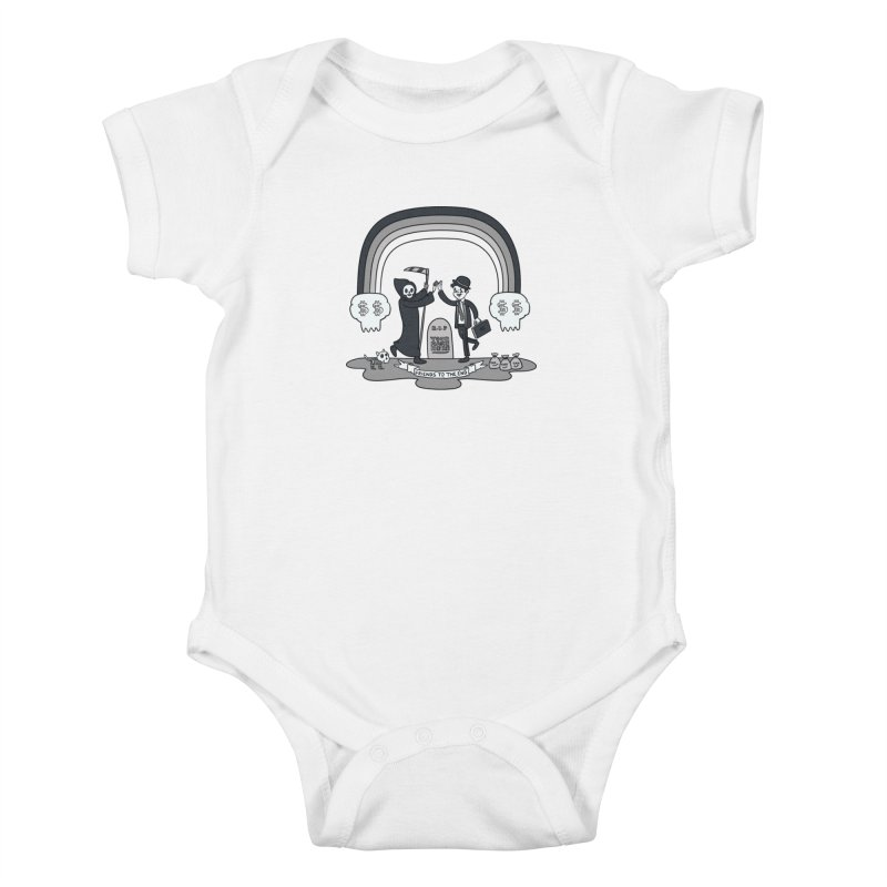 Death and Taxes Kids Baby Bodysuit by Made With Awesome