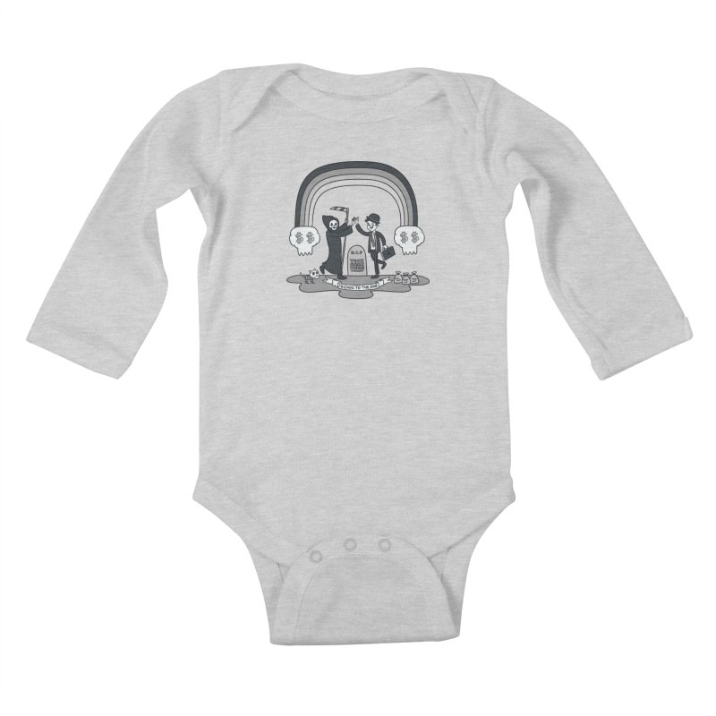 Death and Taxes Kids Baby Longsleeve Bodysuit by Made With Awesome