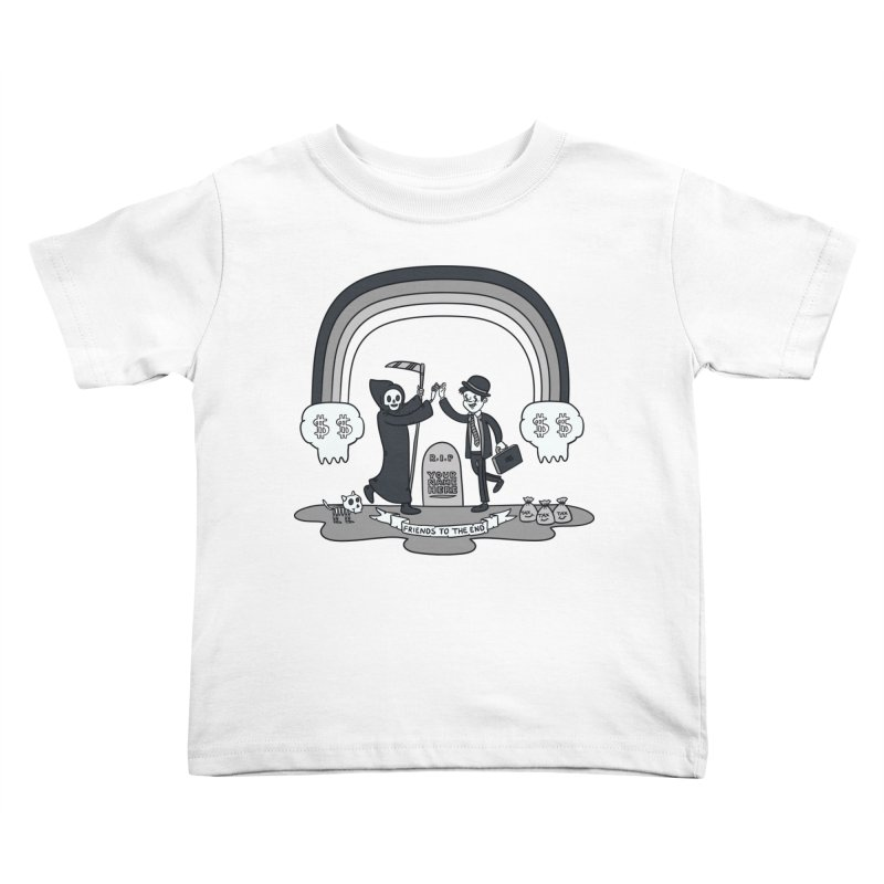 Death and Taxes Kids Toddler T-Shirt by Made With Awesome