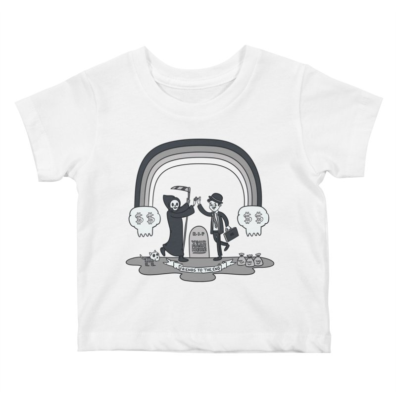 Death and Taxes Kids Baby T-Shirt by Made With Awesome