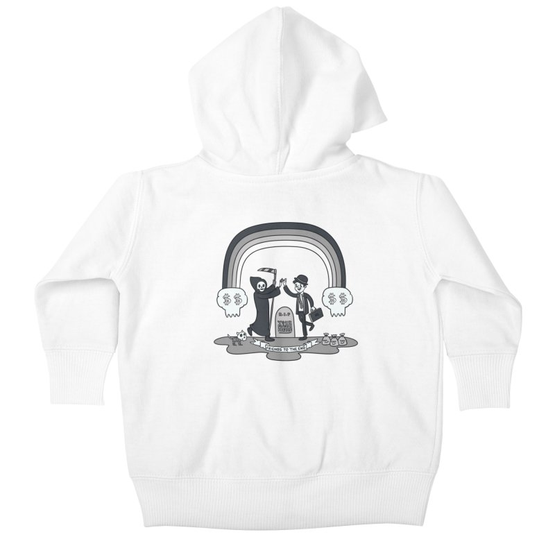 Death and Taxes Kids Baby Zip-Up Hoody by Made With Awesome