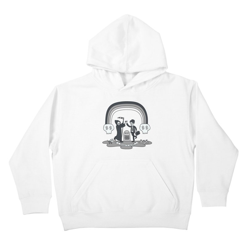 Death and Taxes Kids Pullover Hoody by Made With Awesome