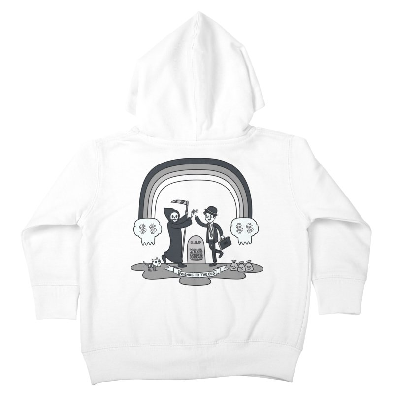 Death and Taxes Kids Toddler Zip-Up Hoody by Made With Awesome