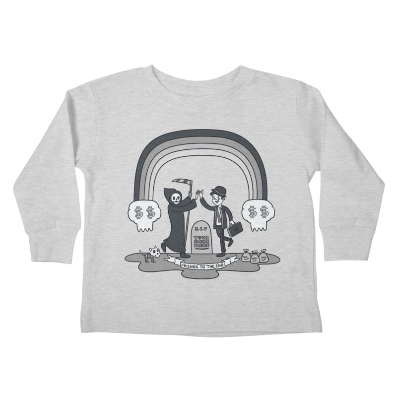 Death and Taxes Kids Toddler Longsleeve T-Shirt by Made With Awesome