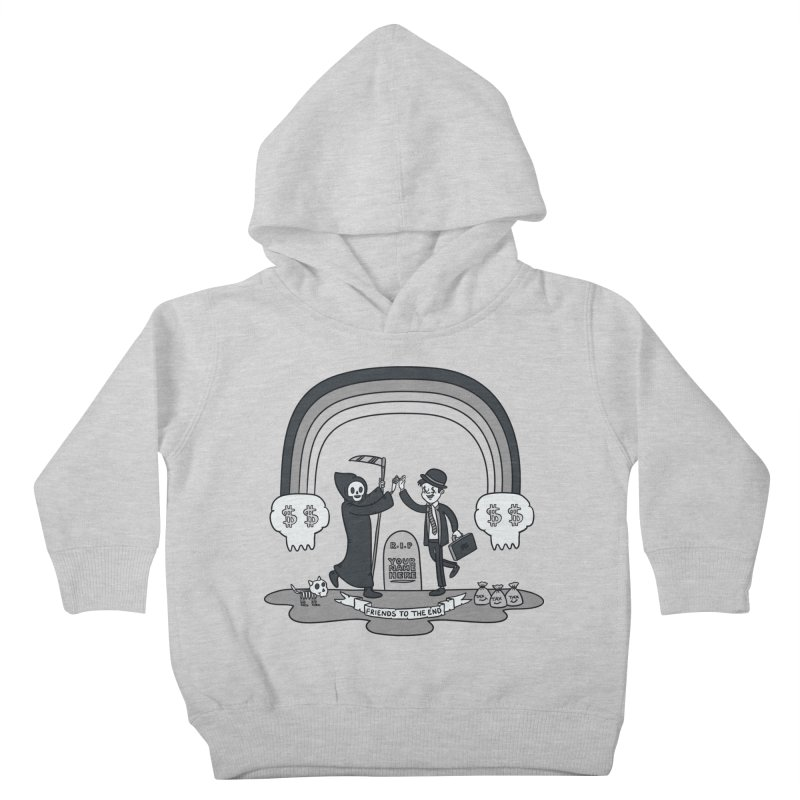 Death and Taxes Kids Toddler Pullover Hoody by Made With Awesome