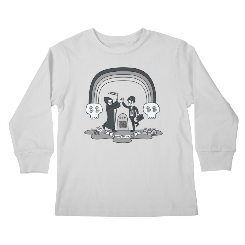 Death and Taxes Kids Longsleeve T-Shirt by Made With Awesome